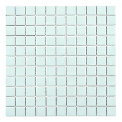 Metro Square Matte Light Blue 12 in. x 12 in. x 5 mm Porcelain Mosaic Floor and Wall Tile (10 sq. ft. / case)