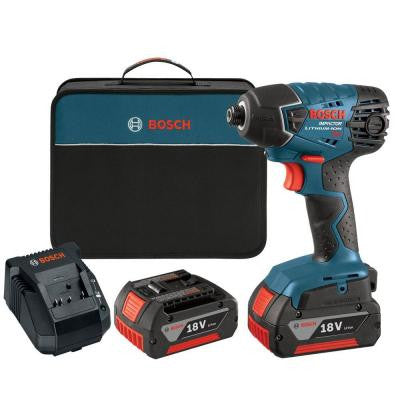 18-Volt Lithium-Ion 1/4 in. Hex Cordless Impact Driver with (2) FatPack (4.0Ah) Battery