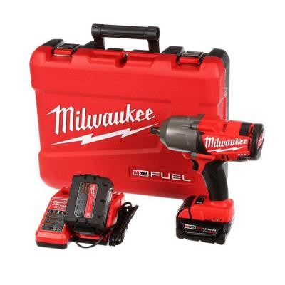 M18 Fuel 18-Volt Lithium-Ion Brushless Cordless 1/2 in. High Torque Impact Wrench with Friction Ring Kit