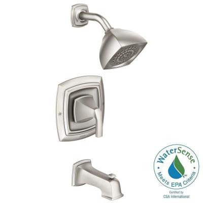 Hensley 1-Handle Tub and Shower Faucet in Spot Resist Brushed Nickel