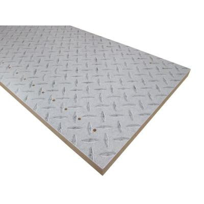 3/4 in. x 16 in. x 48 in. Diamond Plate Thermally-Fused Melamine Adjustable Side Panel