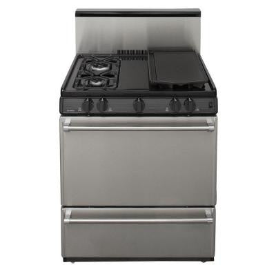 30 in. 3.91 cu. ft. Freestanding Sealed Burner Gas Range in Stainless Steel