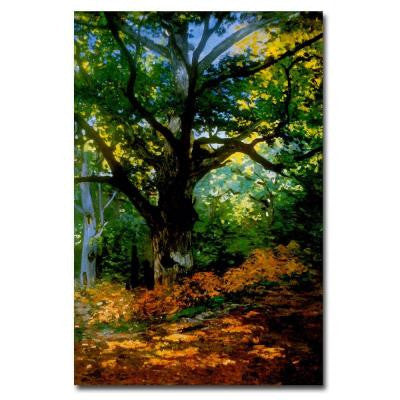 24 in. x 16 in. Bodmer Oak, Fontainebleau Forest Canvas Art
