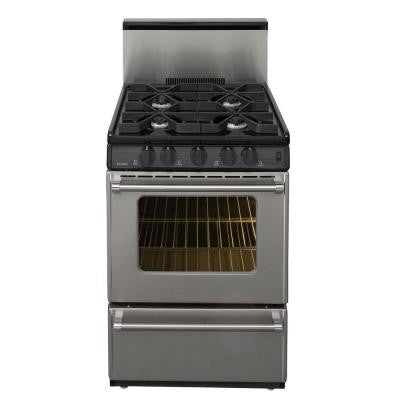 ProSereies 24 in. 2.97 cu. ft. Gas Range in Stainless Steel