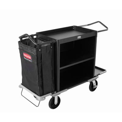 Executive Series Short 2-Shelf Housekeeping Cart