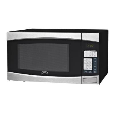 1.4 cu. ft. 1000-Watt Countertop Microwave in Black/Stainless Steel