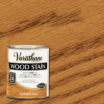 1 qt. 3X Summer Oak Premium Wood Stain (2-Pack)