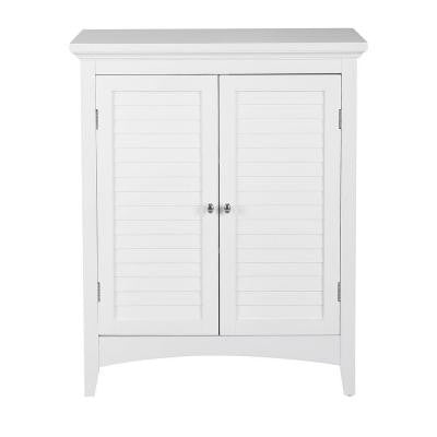 Simon 26 in. W x 13 in. D x 32 in. H Floor Cabinet with 2-Shutter Doors in White