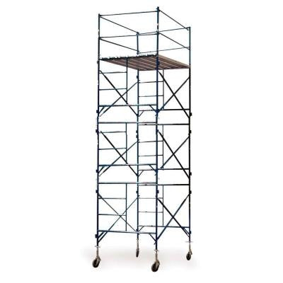 16 ft.x7 ft.x5 ft. 3-Story Commercial Grade Rolling Scaffolding Tower with Stem Jacks and Casters 1500 lb. Load Capacity