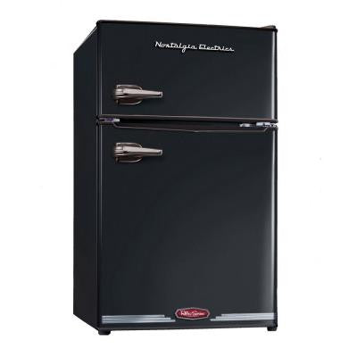 Retro Series 3.0 cu. ft. Mini Refrigerator in Black