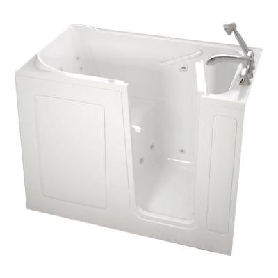 Gelcoat Standard Series 48 in. x 28 in. Walk-In Whirlpool Tub with Quick Drain in White