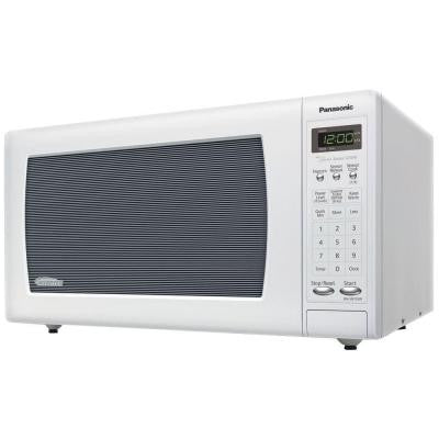 1.6 cu. ft. 1250 Watt Countertop Microwave in White with Inverter Technology