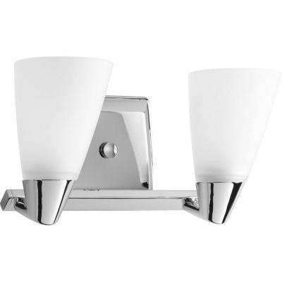 Rizu Collection 2-Light Polished Chrome Vanity Fixture