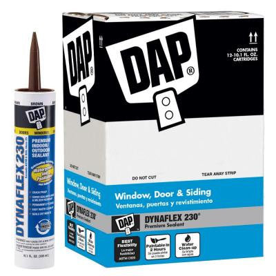 Dynaflex 230 10.1 oz. Brown Premium Indoor/Outdoor Sealant (12-Pack)
