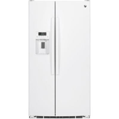 25.4 cu. ft. Side by Side Refrigerator in White