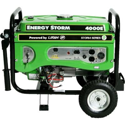 Energy Storm 4,000-Watt 211 cc Gasoline Powered Electric Start Portable Generator with Voltage Selector Switch