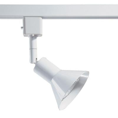 Series 17 Line Voltage GU-10 White Track Lighting Fixture with Cone Style