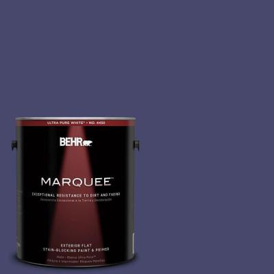 1-gal. #PPU15-1 Nobility Blue Flat Exterior Paint