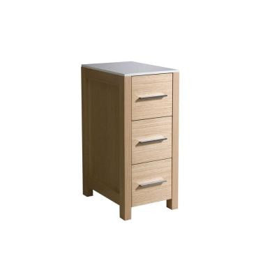 Torino 12 in. W Linen Storage Cabinet in Light Oak