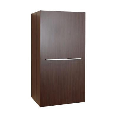 Carvell 15-4/6 in. W x 11-6/8 in. D x 31-1/2 in. H Bathroom Wall Cabinet in Walnut