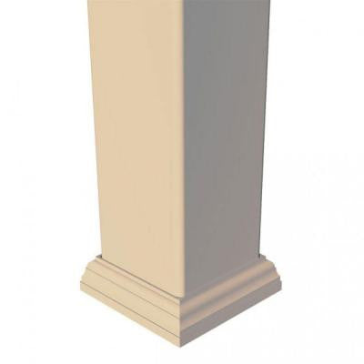 4 in. x 4 in. Vinyl Sand New England Post Trim Base