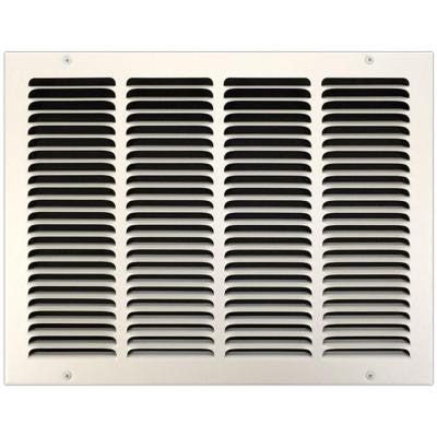 16 in. x 14 in. Return Air Vent Grille with Fixed Blades, White