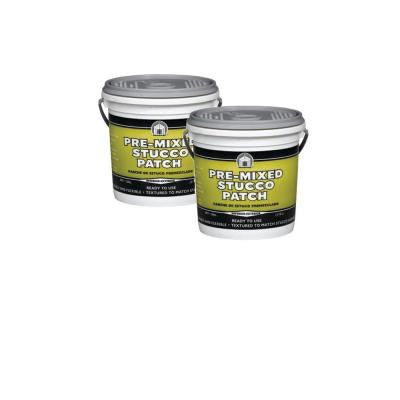 1 Gal. Pre-Mixed Stucco Patch (2-Pack)