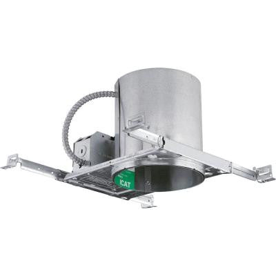 6 in. Metallic New Construction Recessed Housing, Air-Tight, IC and Non-IC