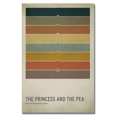 24 in. x 36 in. The Princess and the Pea Canvas Art