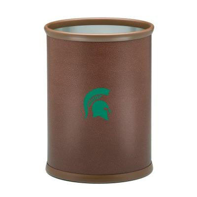 13 in. Michigan State Football Texture Oval Trash Can