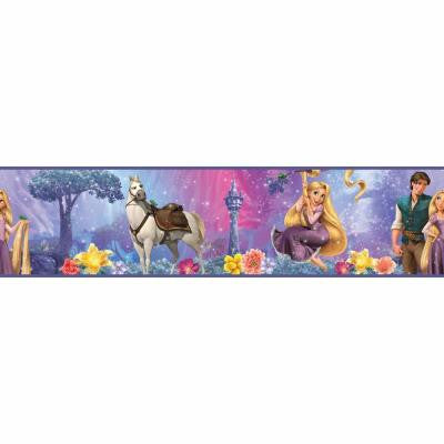 5 in. x 9.25 in. Rapunzel 1-Piece Peel and Stick Border