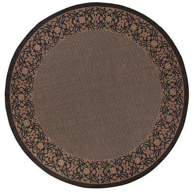 Summer Chimes Cocoa and Black 8 ft. 6 in. Round Area Rug