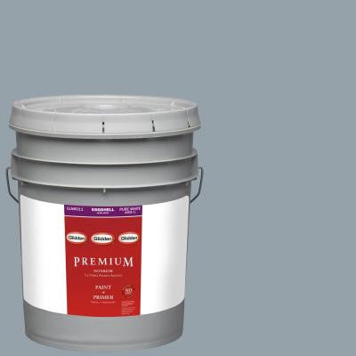 5-gal. #HDGB62D Blue Grey Shadow Eggshell Latex Interior Paint with Primer