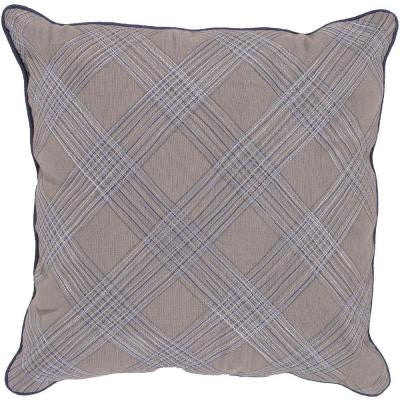 Plaid 18 in. x 18 in. Decorative Down Pillow