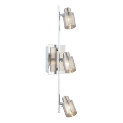 Tarolo 1 3-Light Chrome and Matte Nickel Track Lighting