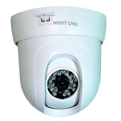 Wired 600 TVL Dome Pan and Tilt Indoor Camera - White