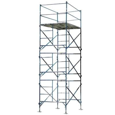 16 ft. x 7 ft. x 5 ft. 3-Story Commercial Grade Scaffold Tower 1,500 lb. Load Capacity with Base Plates