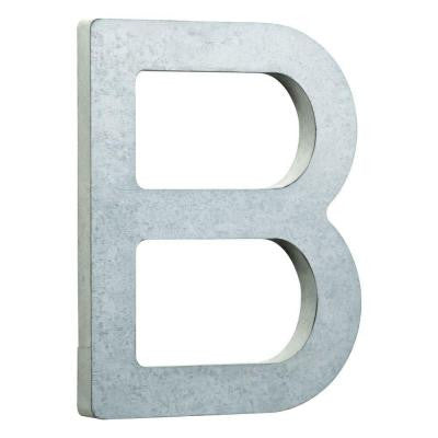 8 in. Vintage Style Galvanized Steel Letter B