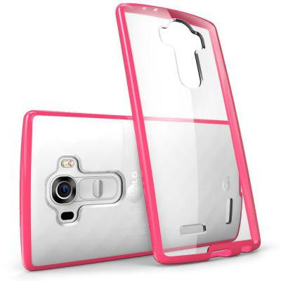 Halo Scratch Resistant Case for LG G4 - Clear/Pink