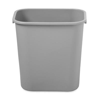 7 Gal. Grey Rectangular Deskside Trash Can