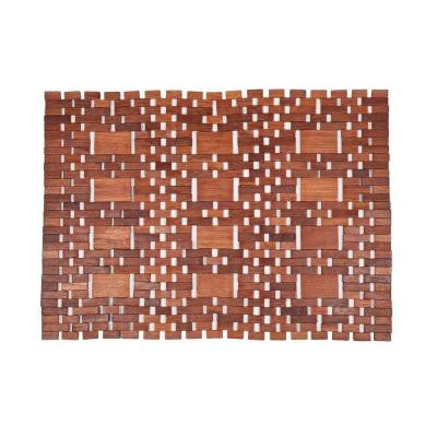 Mills Natural 18 in. x 30 in. Exotic Wood Mat
