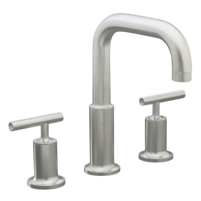 Purist 2-Handle Tub Faucet Trim in Brushed Nickel