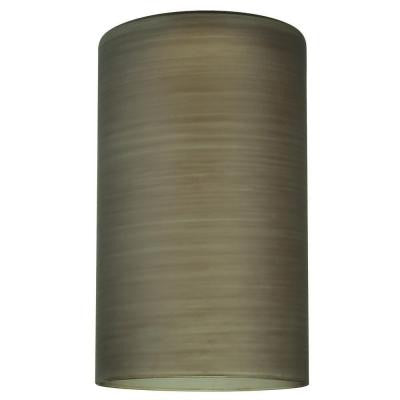 6-1/2 in. Hand Blown Black Glass Cylinder Shade with 2-1/4 in. Fitter and 4 in. Width