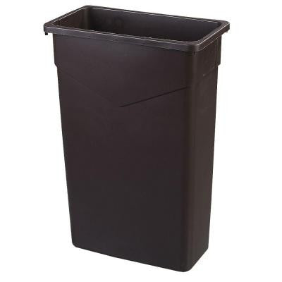 TrimLine 23 Gal. Brown Rectangular Trash Can (4-Pack)