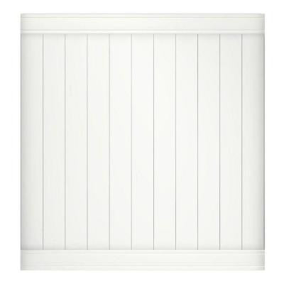 Pr- Series 6 ft. x 6 ft. Woodbridge Vinyl Privacy Fence Panel