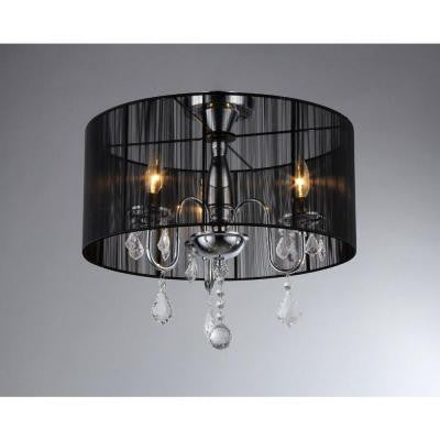 Victoria 3-Light Chrome Crystal Chandelier