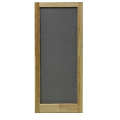 32 in. x 80 in. Meadow Wood Unfinished Reversible Hinged Screen Door