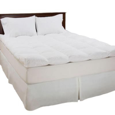 King Size 4 in. H Down and Duck Feather Mattress Topper