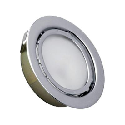 Aurora 1-Light Stainless Steel Recessed Disc Light
