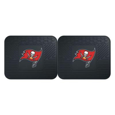NFL Tampa Bay Buccaneers Black Heavy Duty 2-Piece 14 in. x 17 in. Vinyl Utility